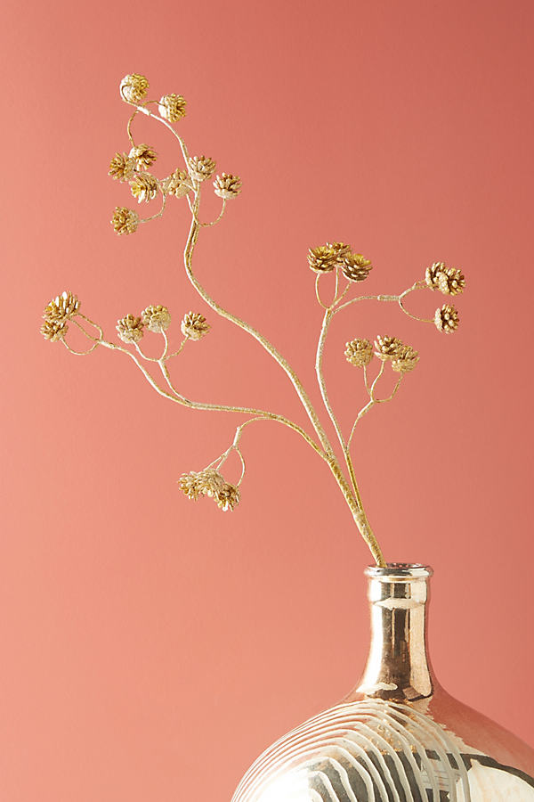 Golden Pine Cone Stem - Gold