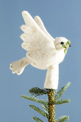 Slide View: 4: Feutrée Dove Tree Topper