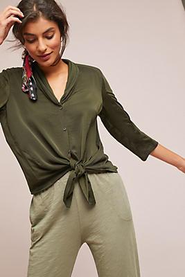 Slide View: 1: Olivia Front-Tie Buttondown