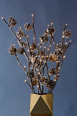 Slide View: 1: Decorative Pinecone Branch