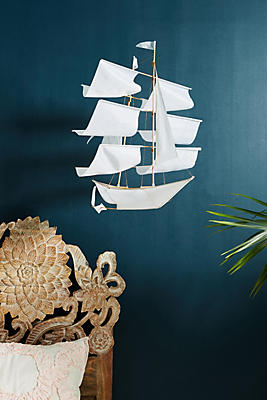 Slide View: 1: Hanging Ship Decor