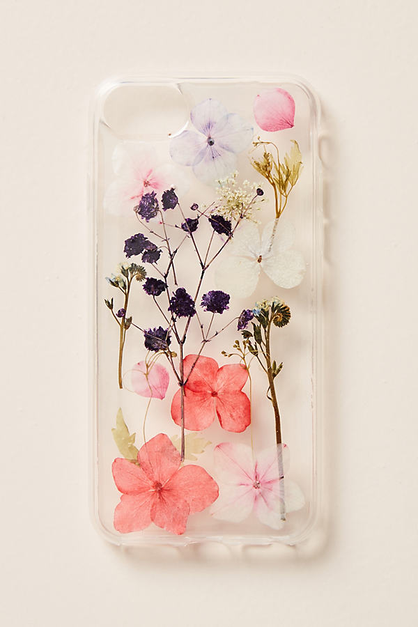 Pressed Flowers iPhone Case - Pink