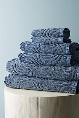 Slide View: 1: Sunfaded Bathroom Towels, Set of 6