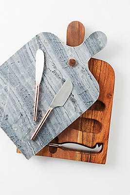 Slide View: 1: Swivel Cheese Board Serving Set