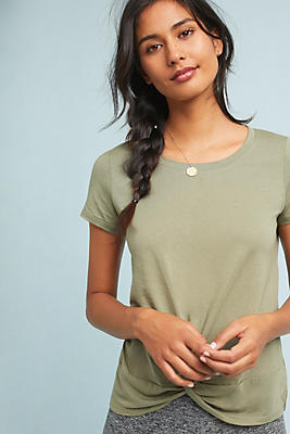 Slide View: 1: Lucielle Knotted Tee