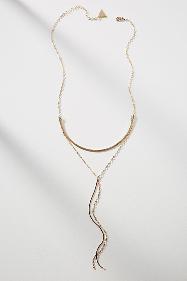 Arching drop pendant necklace anthropologie slide view 1 arching drop pendant necklace aloadofball Images