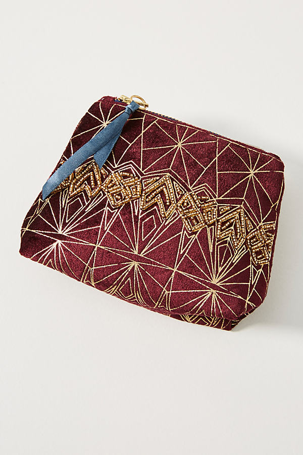 Clair Embellished Pouch - Purple