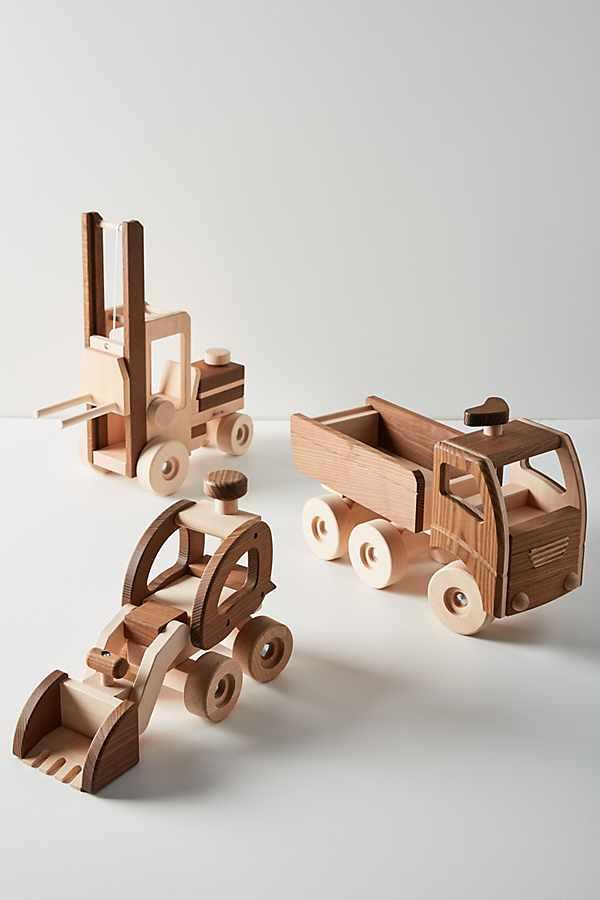 Slide View: 4: Wooden Dump Truck Toy