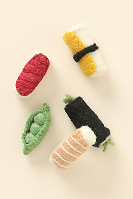 Slide View: 1: Sushi Cat Toys, Set of 5