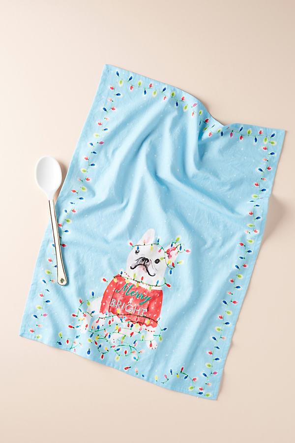 Twinkle Toes Dish Towel - Blue, Size Dishtowel