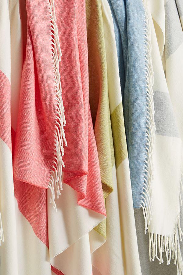 Slide View: 3: Sydney Herringbone Stripe Throw Blanket