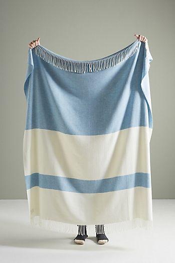 Sydney Herringbone Stripe Throw Blanket