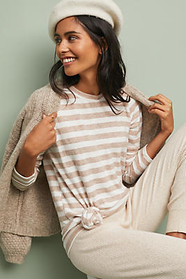 Slide View: 1: Cassidy Striped Pullover