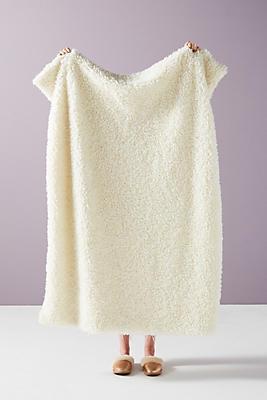Slide View: 1: Fuzzy Faux Fur Throw Blanket