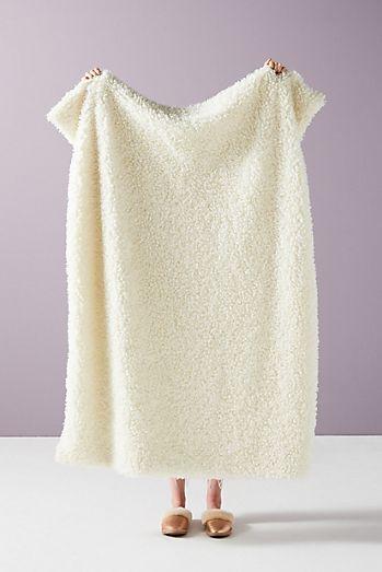 Fuzzy Faux Fur Throw Blanket