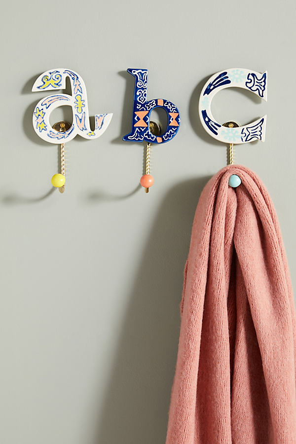 Handpainted Monogram Hook - Assorted, Size V