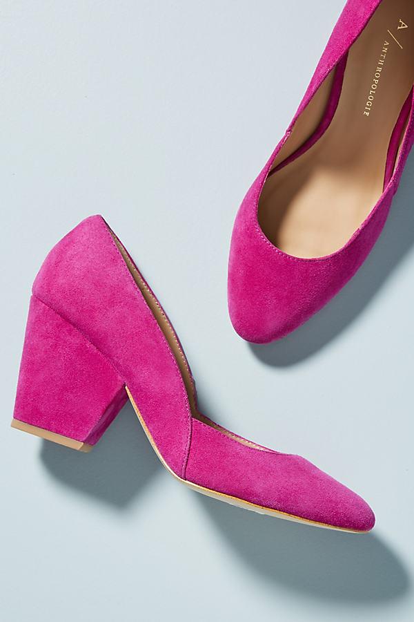 Anthropologie D'Orsay Heels - Pink, Size Eu 40