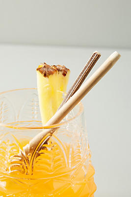 Slide View: 1: Bamboo Cocktail Straws, Set of 10