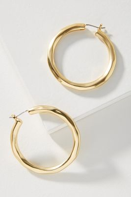 Ray Of Sunshine Hoop Earrings by Anthropologie