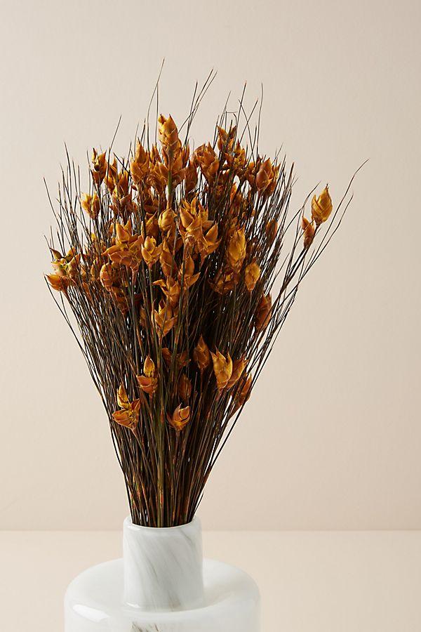 Slide View: 1: Dried Bell Grass Bouquet
