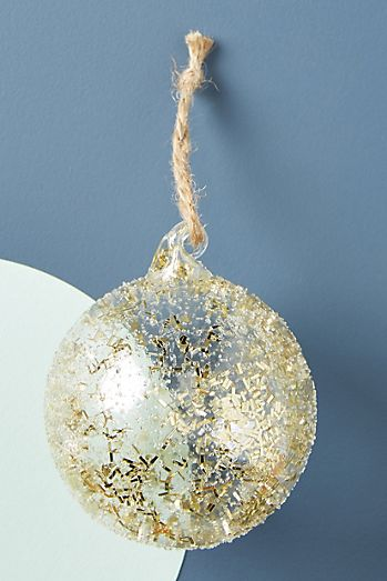 gold dusted ornament