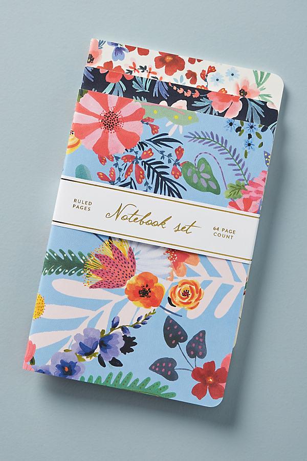Set of 3 Noelle Journals - Blue