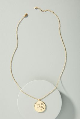 Celestial Coin Necklace by Anthropologie