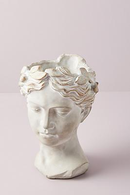 Slide View: 1: Grecian Bust Pot