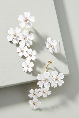 In Full Bloom Drop Earrings by Anthropologie