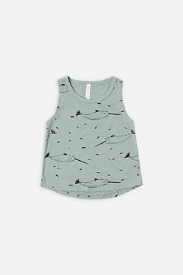 Slide View: 1: Rylee + Cru Narwhal Tank Top