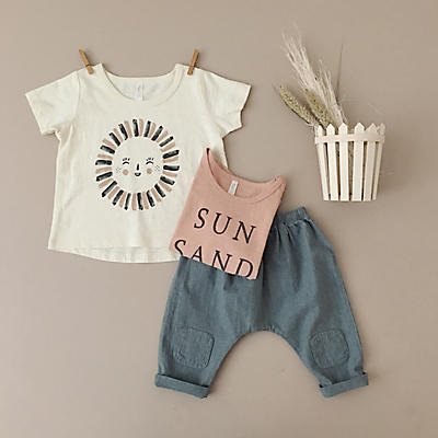 Slide View: 4: Rylee + Cru Mr.sun Basic Tee