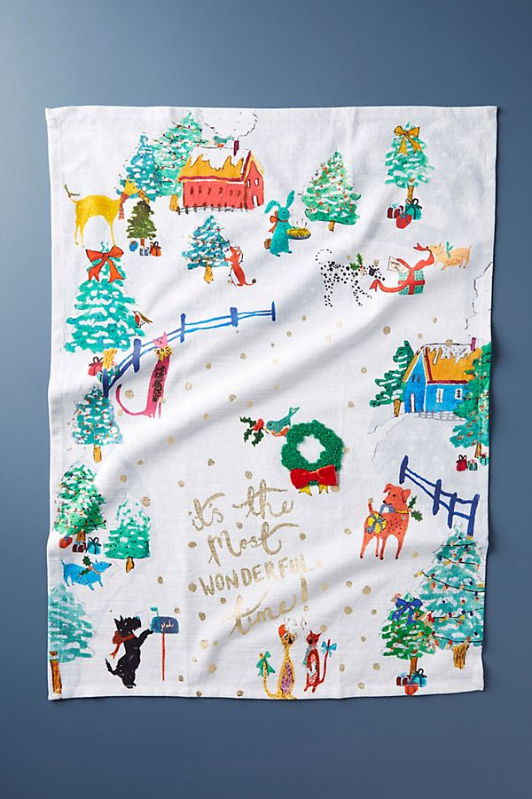 Most Wonderful Time Dish Towel | Anthropologie