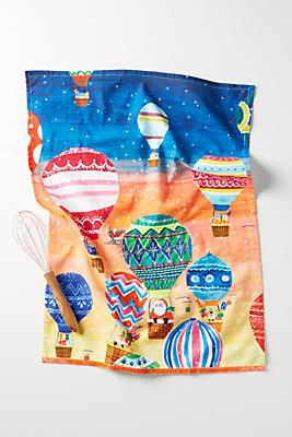 Slide View: 1: Santa Balloon Dish Towel