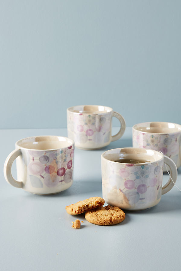 Set of 4 Mika Mugs - Blue, Size S/4 Mug/cu