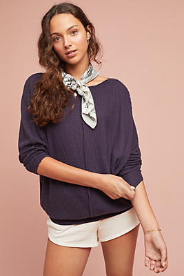 Slide View: 1: Quinn Waffle-Knit Pullover