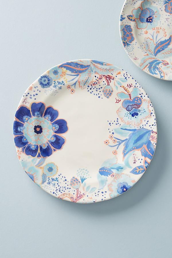 Set of 4 Lola Dinner Plates - Blue, Size S/4 Dinner