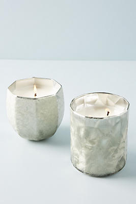 Slide View: 3: Frosted Windowpane Candle