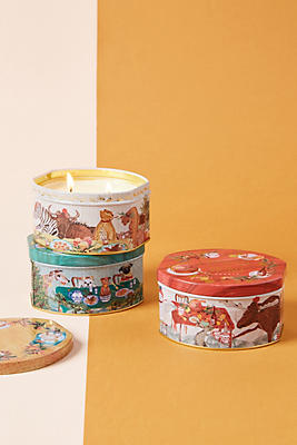 Slide View: 1: Holiday Tin Candle