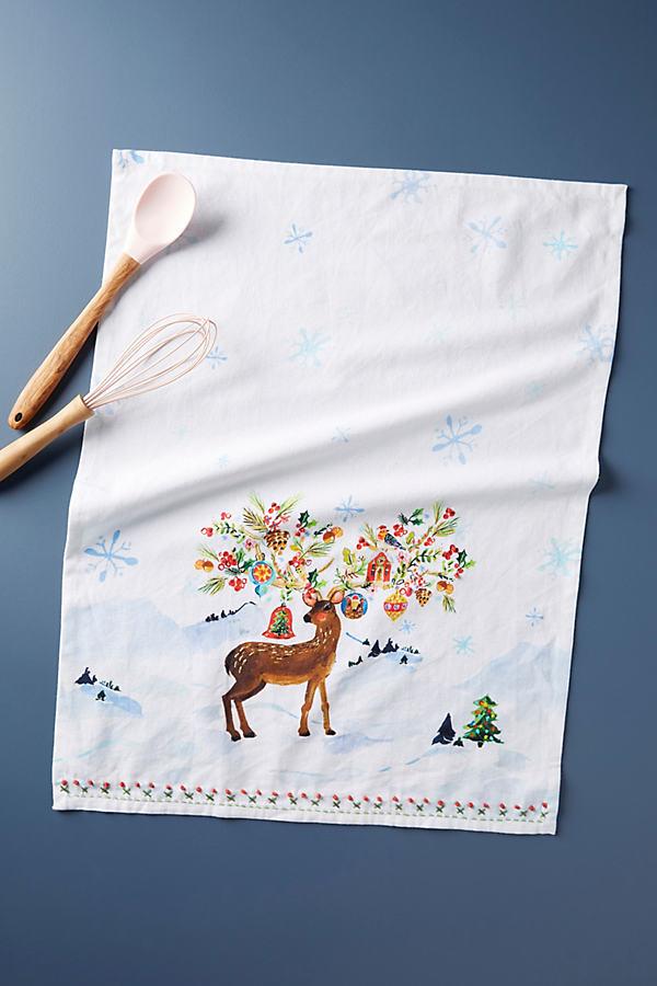 Decorated Deer Dish Towel - Assorted, Size Dishtowel