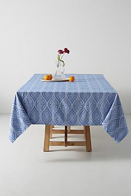 Slide View: 1: Florita Jacquard Tablecloth