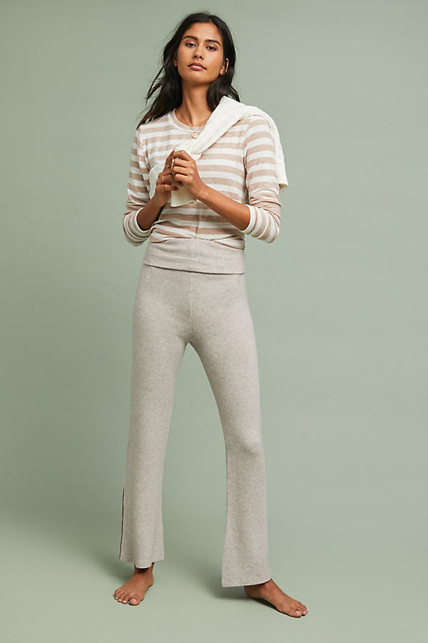 Foldover CloudFleece Trousers - Beige, Size Xs