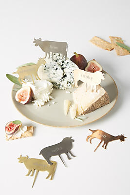 Slide View: 1: Chevre Cheese Markers, Set of 6