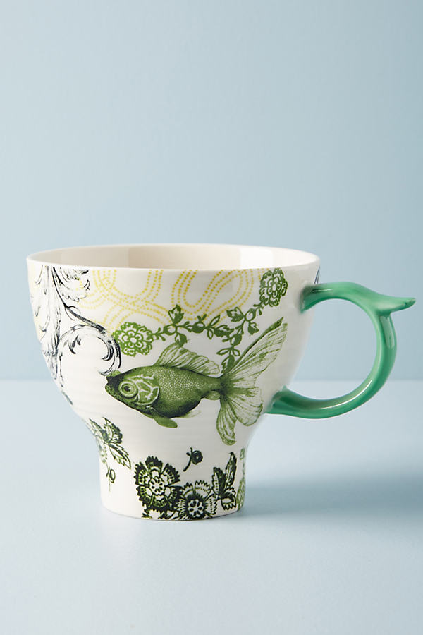 Menagerie Mug - Green, Size Mug