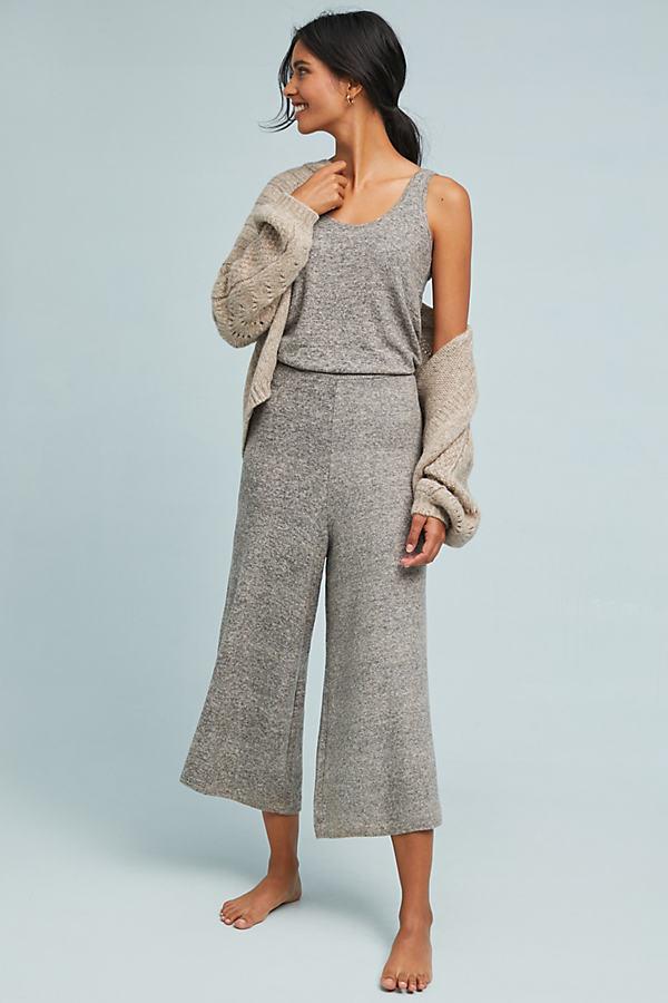 Sleeveless CloudFleece Jumpsuit - Beige, Size L