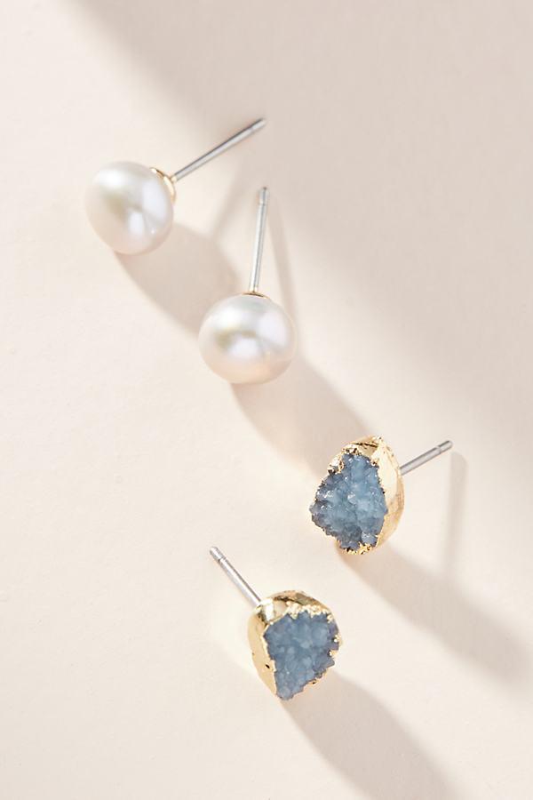 Seaside Earring Set - Grey