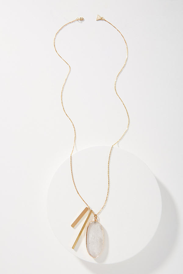 Penelope Pendant Necklace - Clear