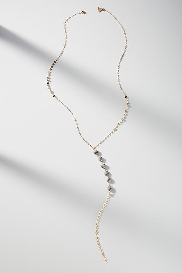 Nika Y-Necklace - Grey