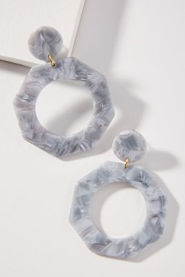 Apres Ski Octagon Hoop Earrings by Anthropologie
