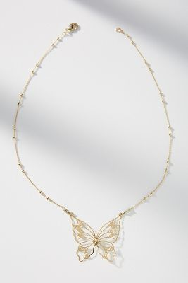 Mirabel Butterfly Necklace by Anthropologie