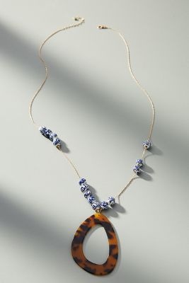 Nita Resin Necklace by Anthropologie